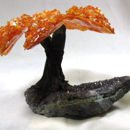 orange citrine mineral tree 1c