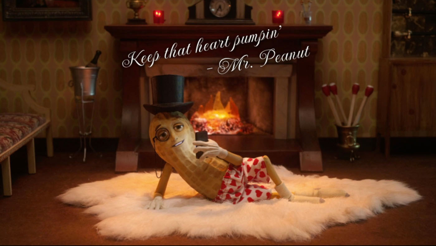 Mr Peanut Is Declaring His Love For Hearts With Planters