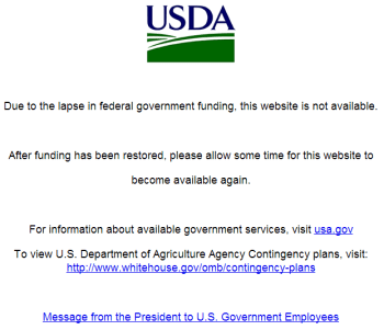 USDA_Website_Government_shutdown_notice