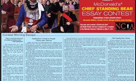 McDonald's Chief Standing Bear Essay Contest Winners