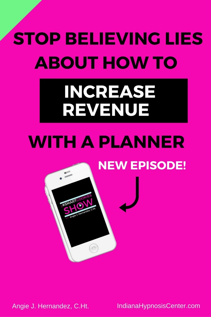 Sign with a phone: STOP BELIEVING LIES ABOUT HOW TO INCREASE REVENUE WITH A PLANNER