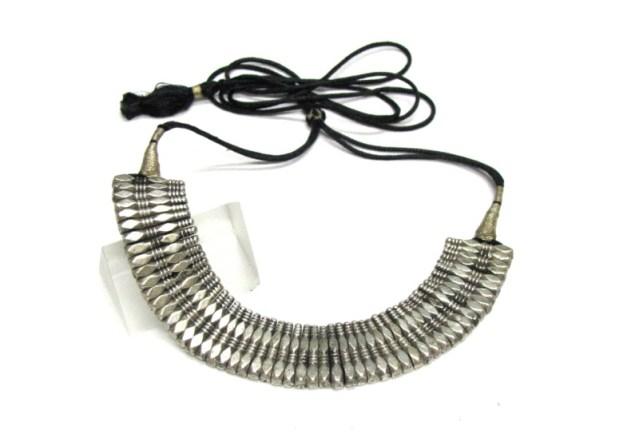 Antique Himachal Pradesh Necklace, Silver Choker Necklace, 71 Grams