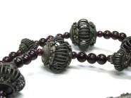 Antique Indian Taviz Necklace, Sri Lanka Beads