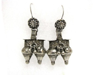 Antique Rabari Dhebaria Nagali Earrings