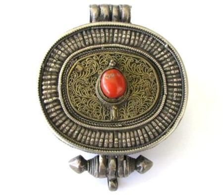 Antique Tibetan Gau, Tibetan Ghau, Tibetan Gao