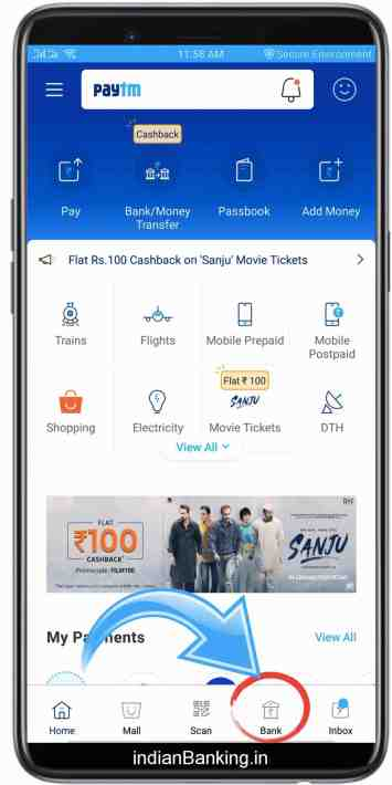 Add Money in Paytm payments bank through Debit Card
