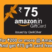 Shop for ₹200 or more at Amazon.in & get ₹75 Amazon Gift Card