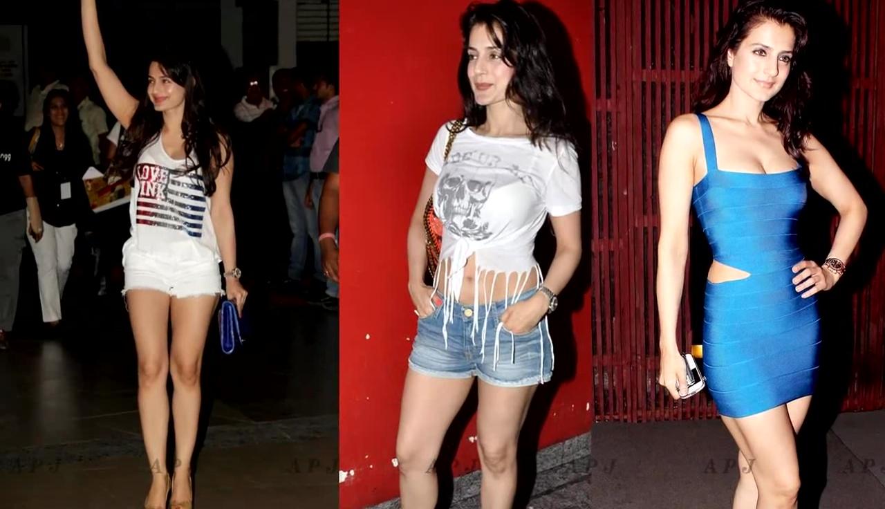 Ameesha Patel Hot leg show bollywood event Pics