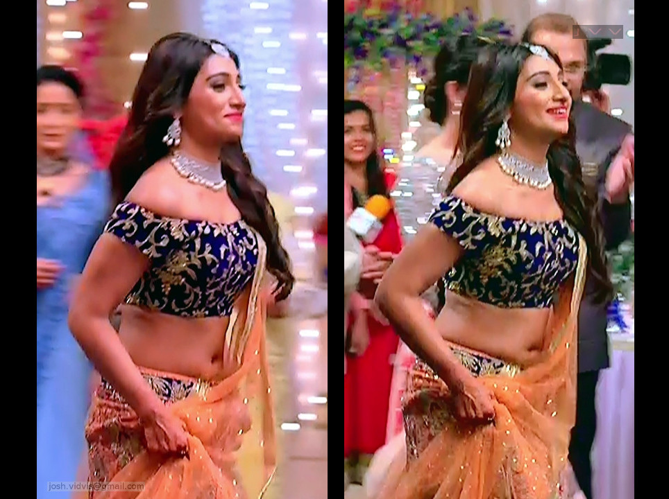 Mohena Singh Desi TV Actress Hot Lehenga Choli serial caps