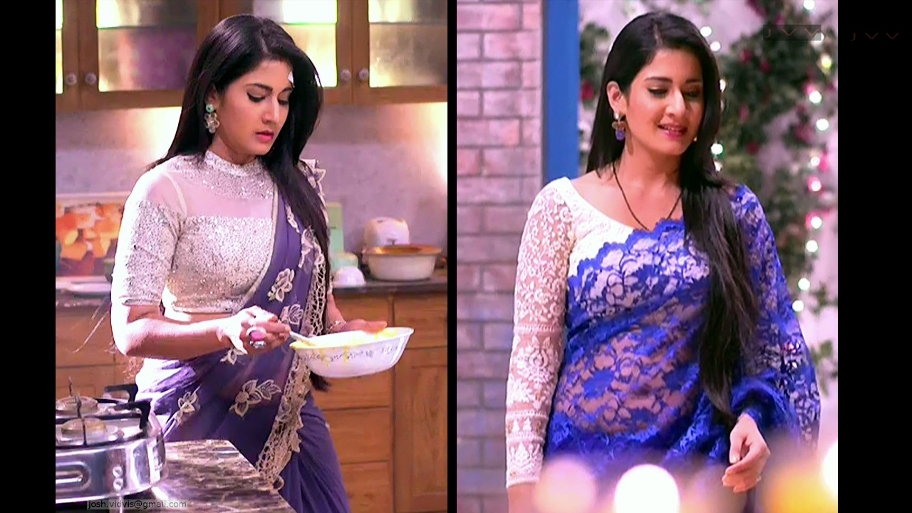 Aditi Rathore sexy navel show in low waist transparent saree