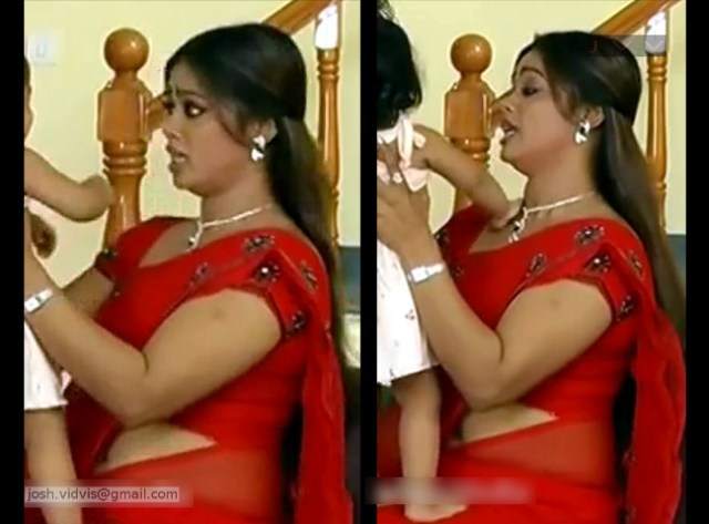 DeviPriya_Tamil TV Actress_06_hot saree navel