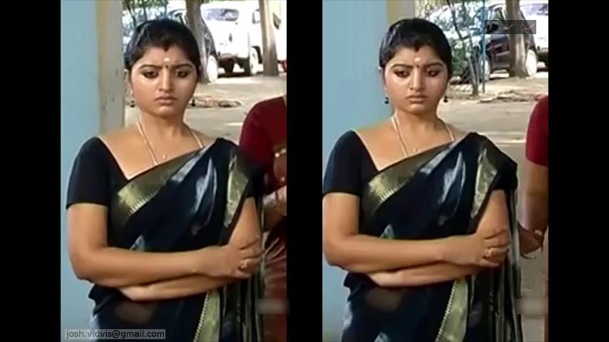 Mahalakshmi_Tamil TV Actress02_Hot saree caps