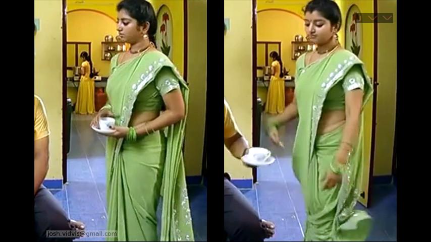Mahalakshmi Tamil TV serial Actress Saree Caps