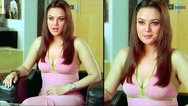 Preity Zinta_KANK_01_ScrCap Scene Cleavage