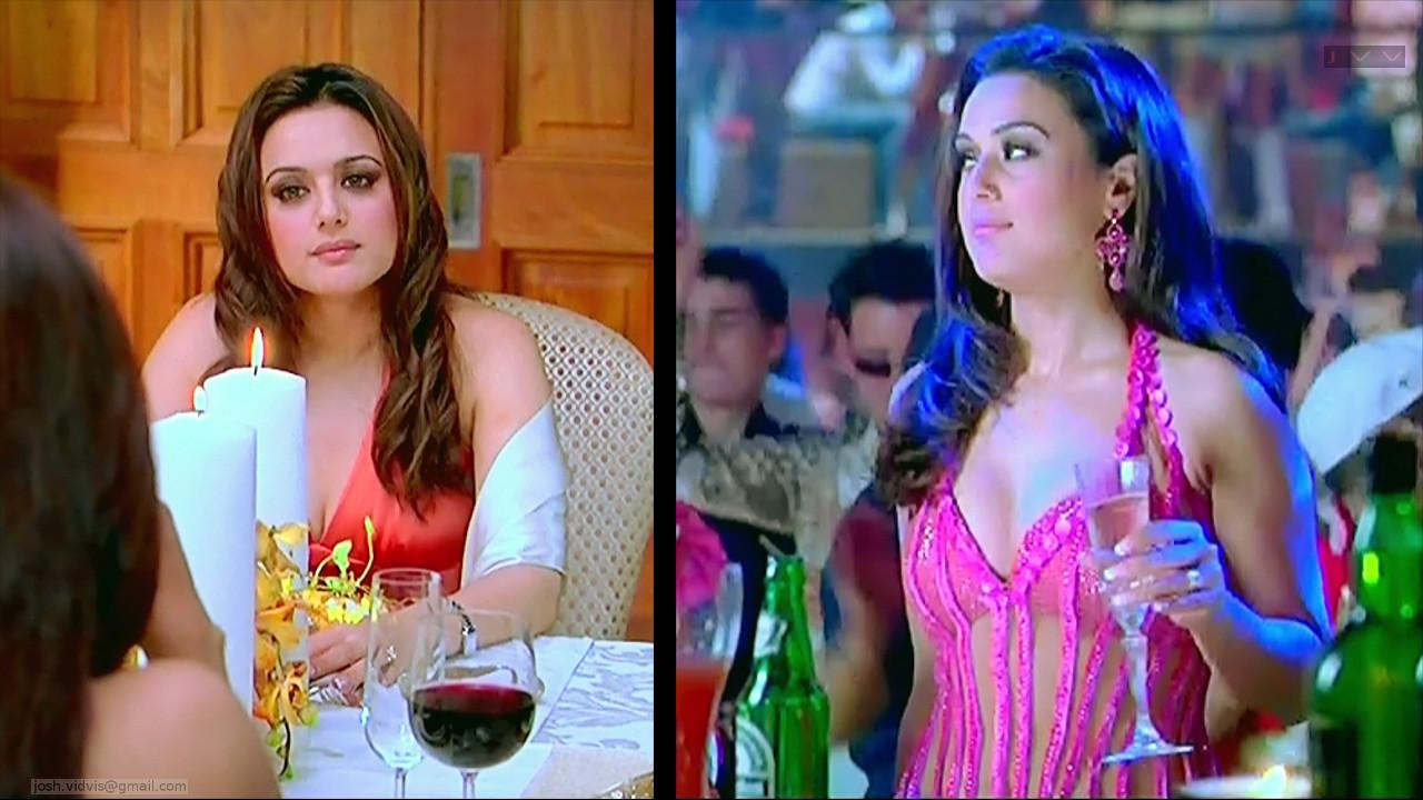 Preity Zinta_KANK_07_ScrCap Scene Cleavage