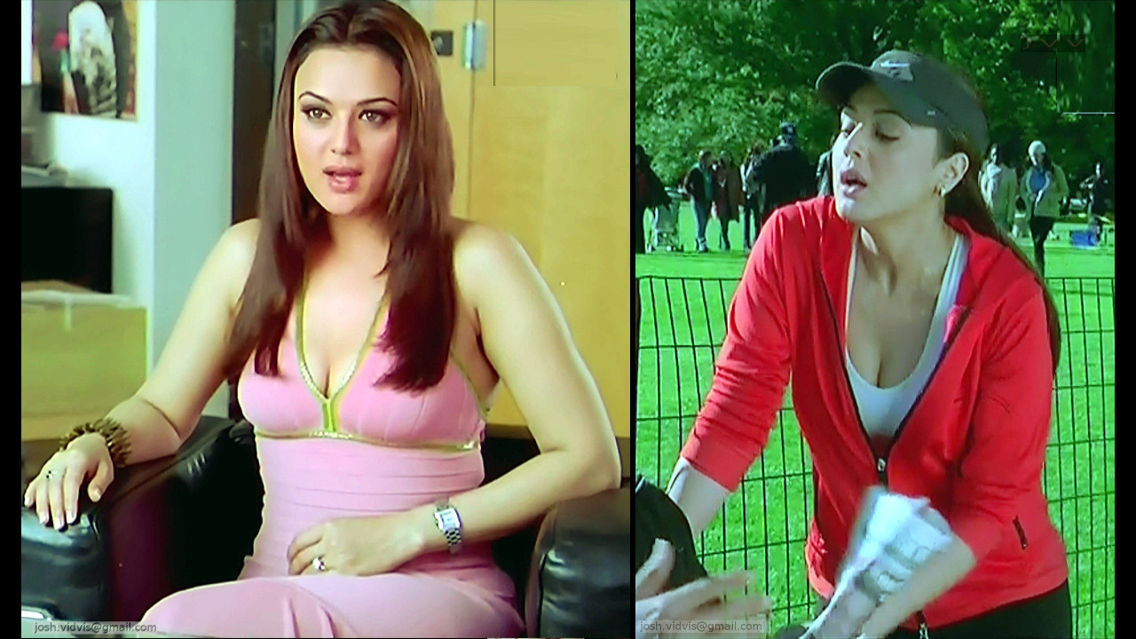 Preity Zinta_KANK_08_ScrCap Scene Cleavage
