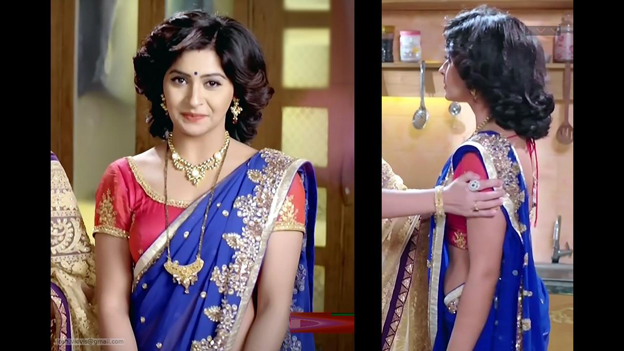 Yukti Kapoor_Hindi TV Actress_04_Hot Saree Stills