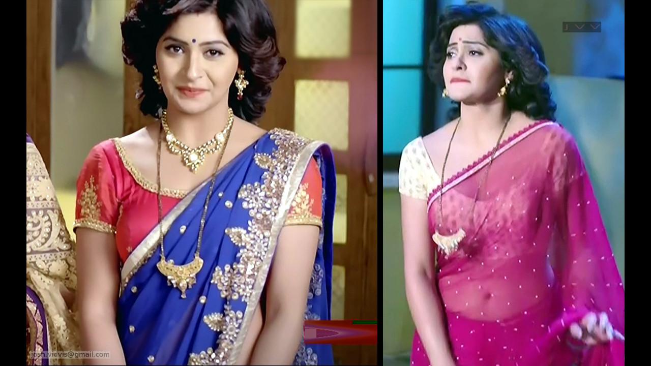 Yukti Kapoor hot saree navel caps from Agnifera tv series