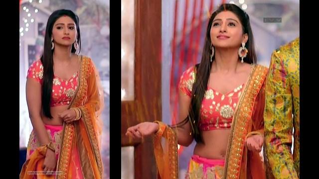 Mohena Singh_Hindi TV Celeb_01_Hot Lehenga Choli Pics