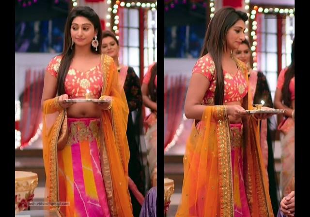Mohena Singh_Hindi TV Celeb_04_Hot Lehenga Choli Pics