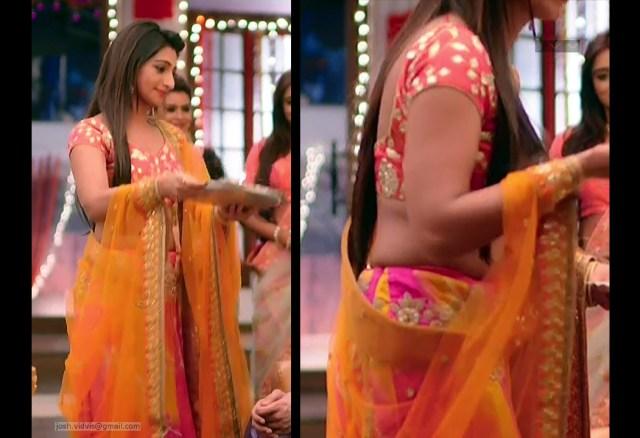 Mohena Singh_Hindi TV Celeb_05_Hot Lehenga Choli Pics
