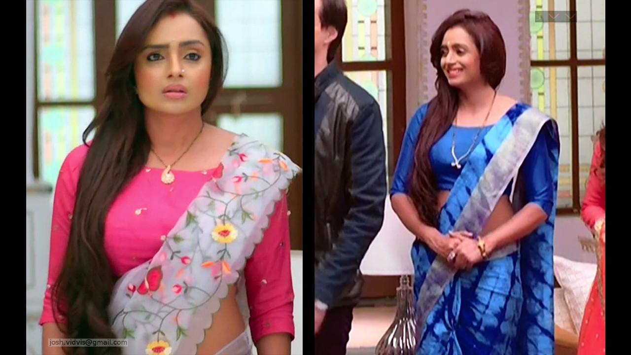 Serial actress Parul chauhan hot saree caps