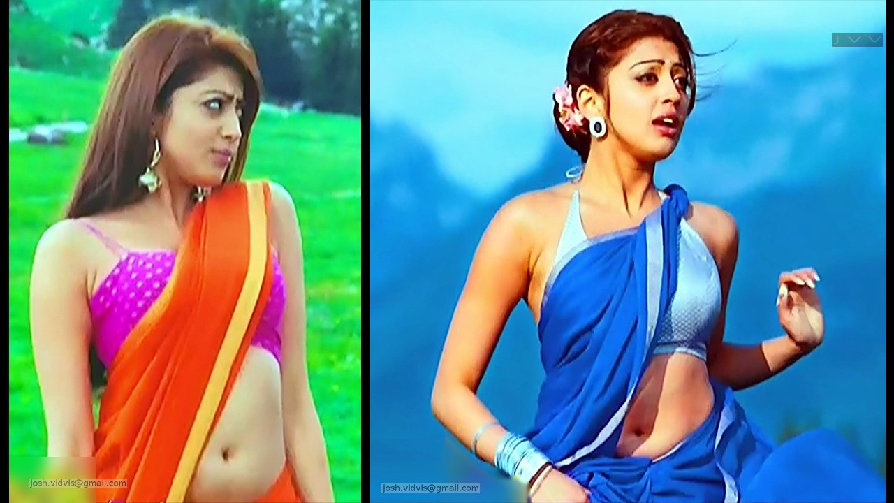 Pranitha Subhash Sexy Saree Navel show - tollywood hd caps