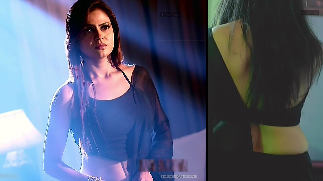 TV actress hot backless saree caps
