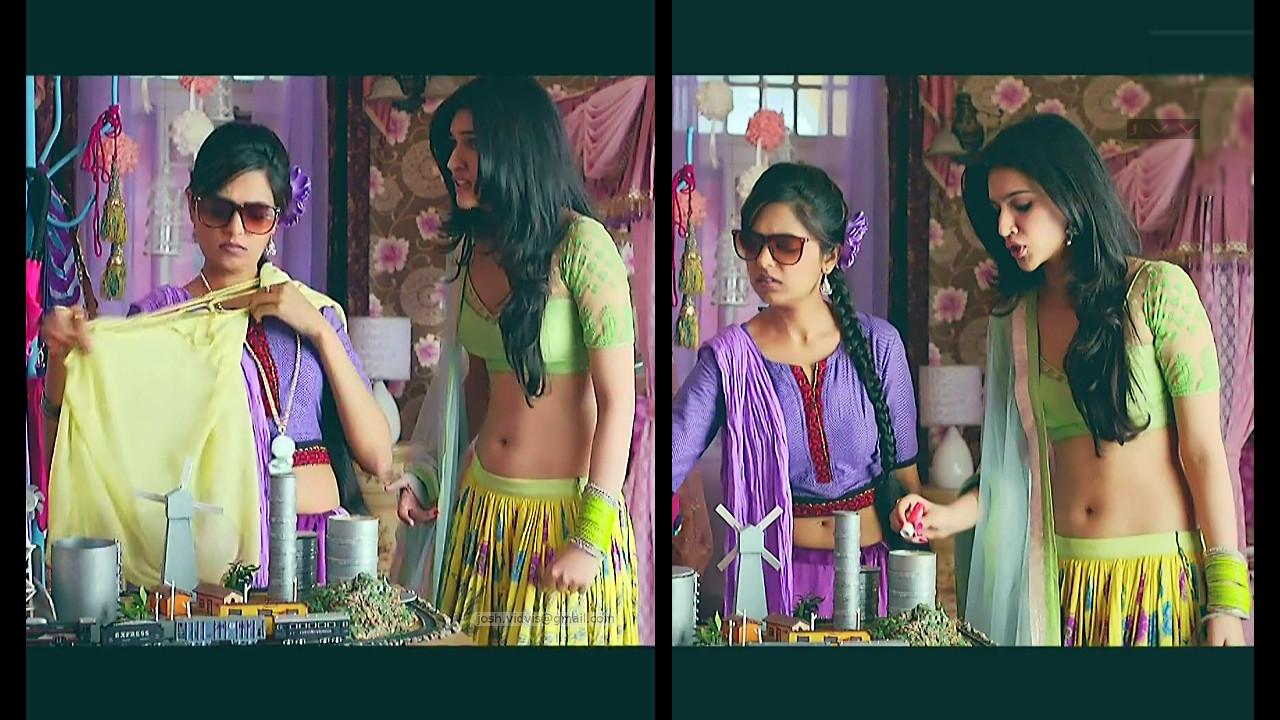 Kriti Sanon_Bollywood Actress_04_Lehenga choli hot navel show pics