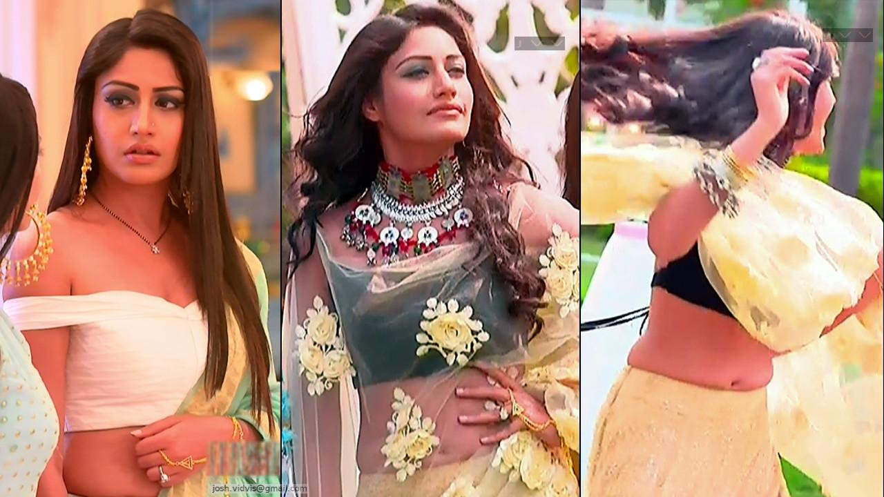Surbhi Chandna TV actress hot caps in lehenga choli