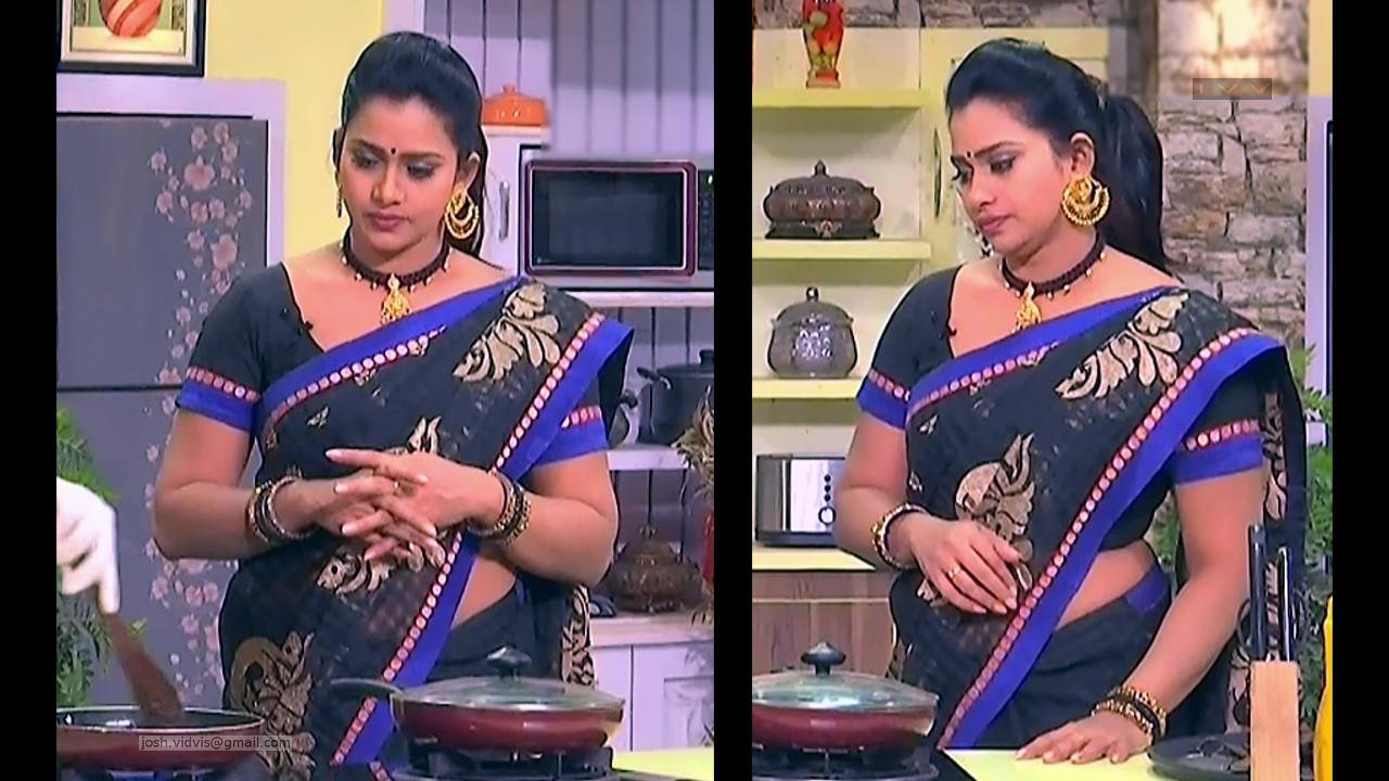 Telugu TV Anchor Cool show_05_Saree Caps photos