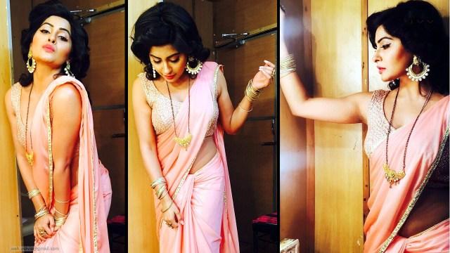 Yukti Kapoor_Hindi TV Actress_01_Stills Saree