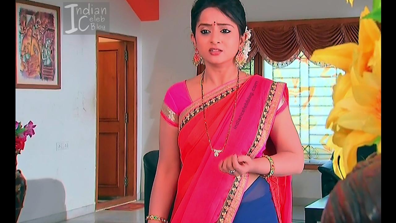 Harshitha_Telugu TV Actress_15_Saree Pics
