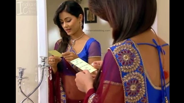 HinaKhan_Hindi TV Actress YRKKH S1_15_Hot Saree navel pics