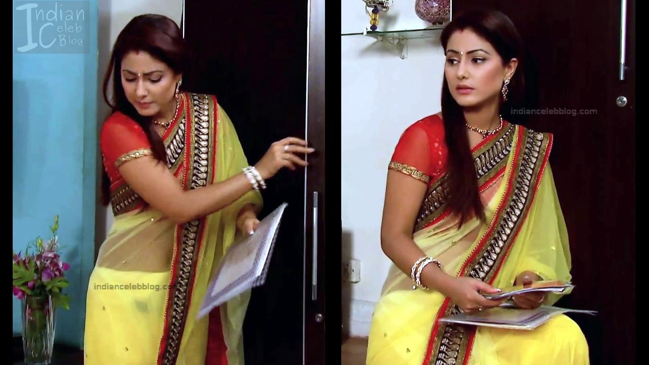 HinaKhan_Hindi TV Actress YRKKH S1_8_Hot Saree navel pics