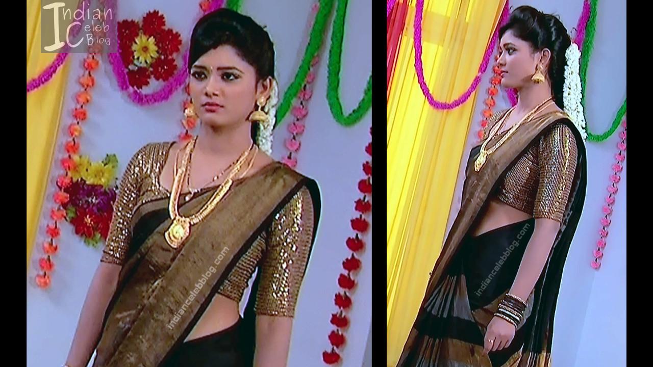 Telugu TV Actress ETV AbhiS_1_Hot Saree navel pics