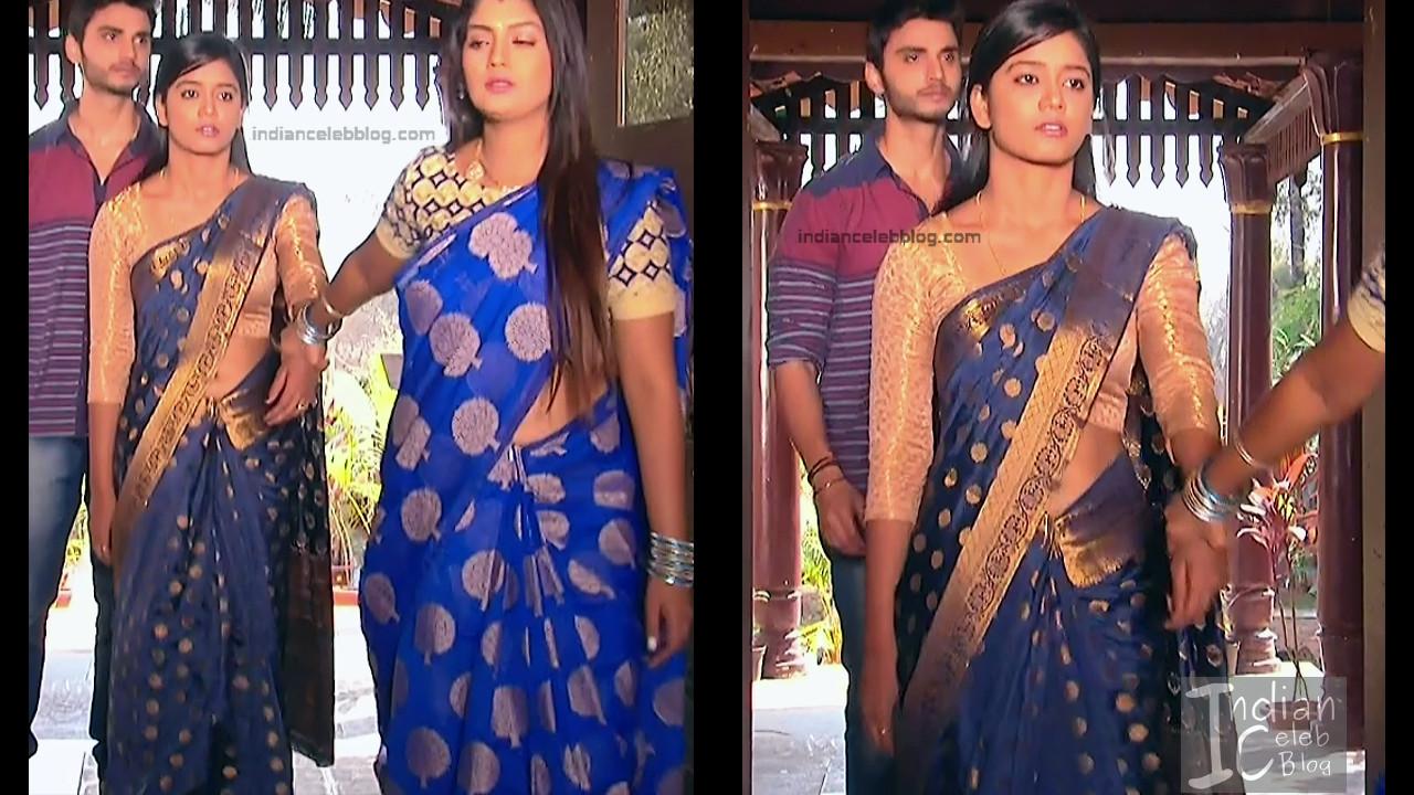 Telugu TV Actress ETV AbhiS_2_Hot Saree navel pics
