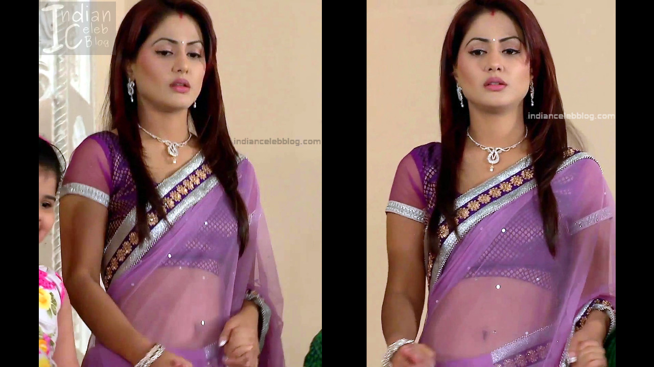 Hina Khan_Hindi TV Actress_13_Hot Sari photos