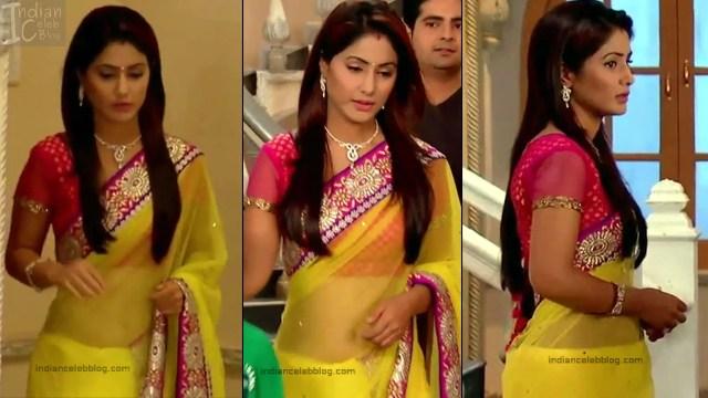 Hina Khan_Hindi TV Actress_18_Hot Sari photos