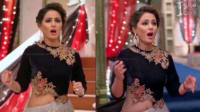 Hina Khan_Hindi TV Actress_3_Hot Sari photos