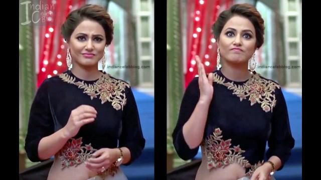 Hina Khan_Hindi TV Actress_5_Hot Sari photos