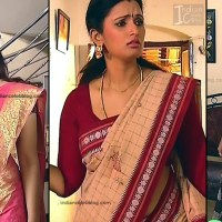 Kavya Shastry tamil serial Mahalakshmi saree caps