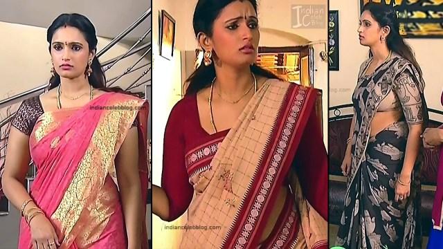 Kavya Shastry_Tamil TV Actress Mahalakshmi S1_1_Hot saree pics