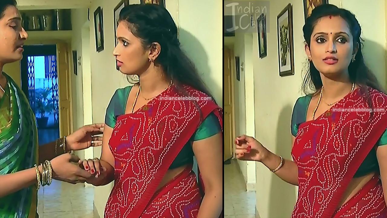 Kavya Shastry_Tamil TV Actress Mahalakshmi S1_2_Hot saree pics