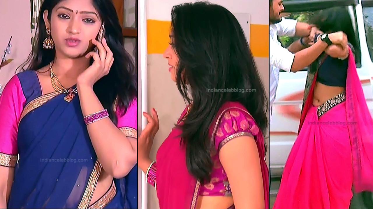 Mythili Telugu TV Actress saree navel caps