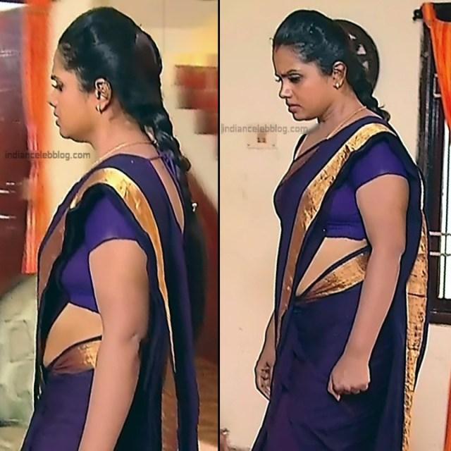 Sudha Tamil TV Actress Mahalakshmi S2 1 Hot Saree Photos