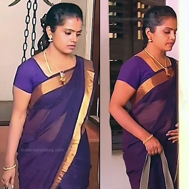 Sudha Tamil TV Actress Mahalakshmi S2 10 Hot Saree Photos