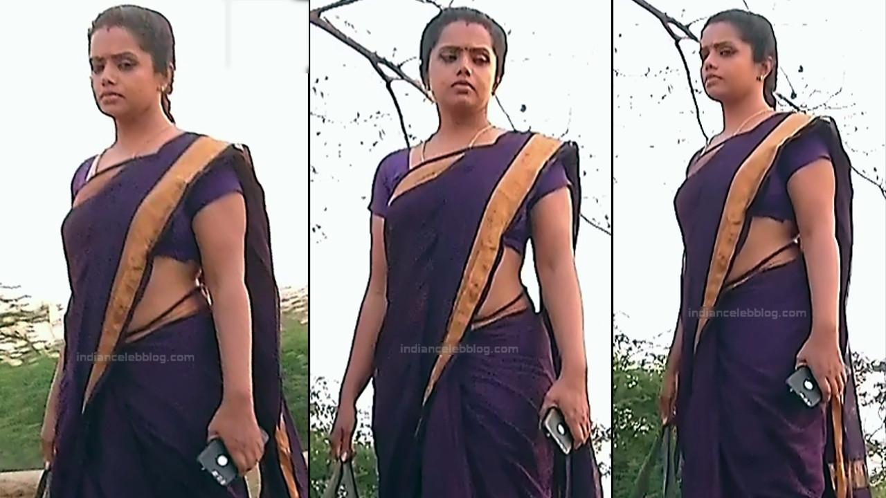 Sudha Tamil TV Actress Mahalakshmi S2 7 Hot Saree Photos