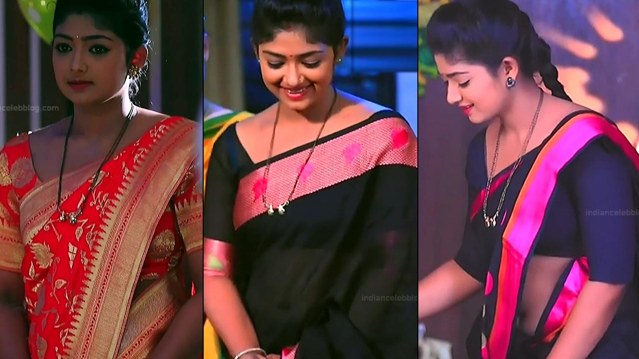 Bhoomi Shetty Kannada TV celeb hot saree navel caps