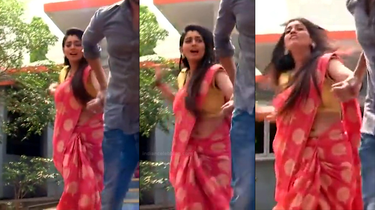 Karuna bhushan telugu tv serial actress navel slip in saree - Video